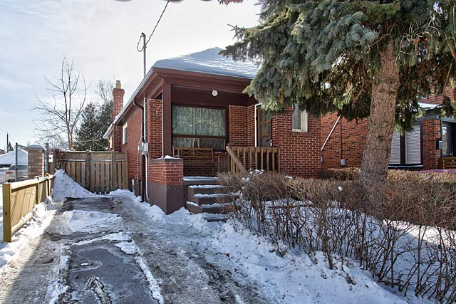 Detached bungalow for sale at 13 Kitchener Avenue, Toronto.