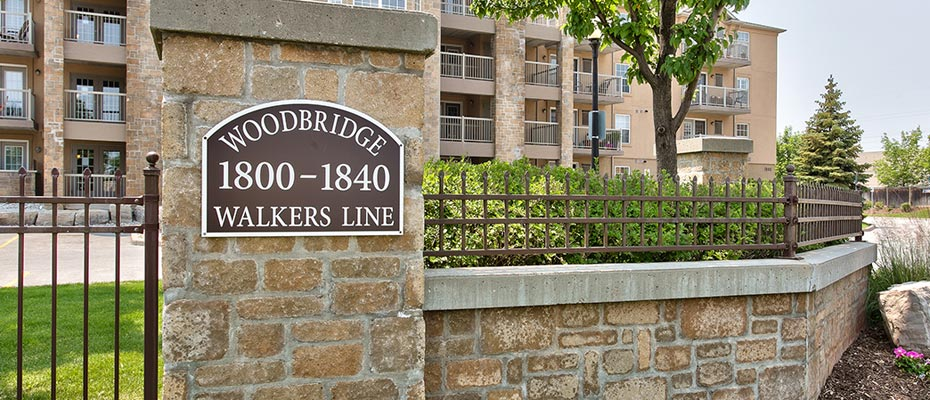 One Bedroom Condo For Rent At Woodbridge Condominiums - 410-1830 Walkers Line, Burlington